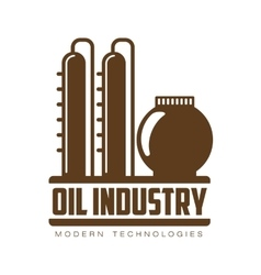Set of logos with oil vector