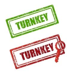 stamp turnkey vector image