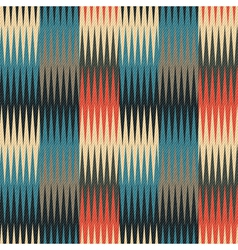 triangular waves geometric ornament vector image vector image