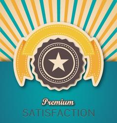 Vintage Retro Premium Banner and Seal vector image