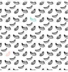 banana brush seamless pattern vector image vector image