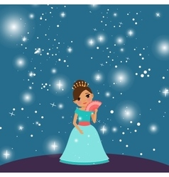 Cartoon beautiful princess vector image