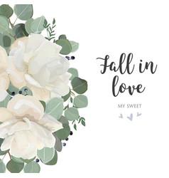 floral card design with garden white creamy vector image vector image
