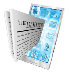 news phone app concept vector image vector image