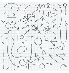 Set of various hand drawn arrows vector image vector image