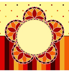 Stained Glass Flower Card vector image vector image