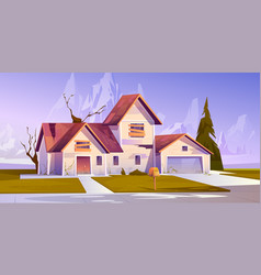 Adandoned old house with boarded up windows vector