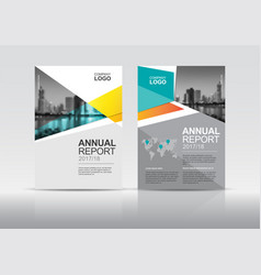 Annual report brochure cover design template vector
