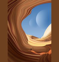 Antelope canyon art vector