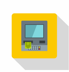 atm bank cash machine icon flat style vector image