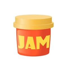 Bank of jam icon cartoon style vector image