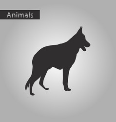 Black and white style icon of german shepherd vector
