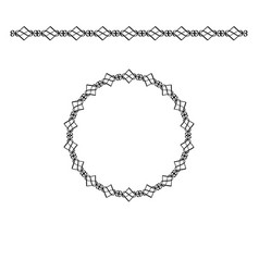 black border and circle frame vector image