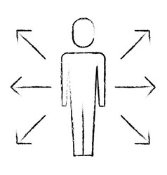 businessman options arrows direction choise vector image