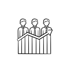businessmen success hand drawn sketch icon vector image