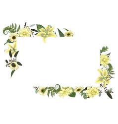 card floral design with forest leaf fern vector image