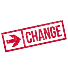 Change stamp rubber grunge vector