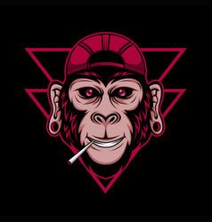 chimpanzee cool vector image