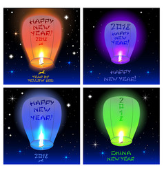 chinese lanterns 2018 vector image