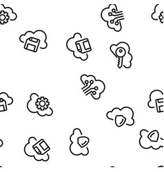 cloud service seamless pattern vector image