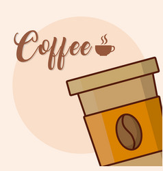 Coffee to go cup vector