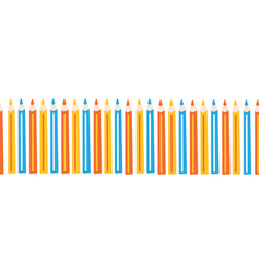 colored pencils repeating horizontal border vector image
