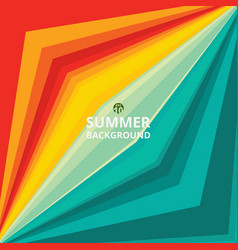 colorful of summer time background vector image