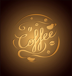 composition with coffee vector image