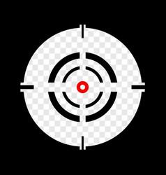 cross hair reticle target mark editable vector image