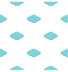 Curly cloud pattern flat vector