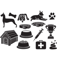 Dog icons vector