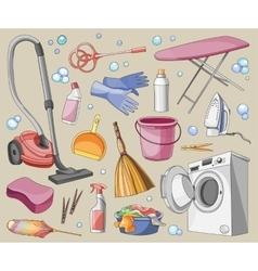 Doodle set of cleanup vector image