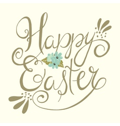 easter greeting background vector image