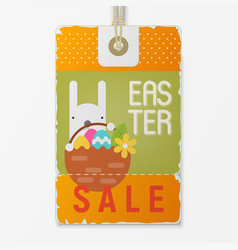 easter price tag vector image