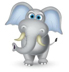 elephant cartoon posing vector image