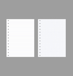 exercise book paper page background notebook vector image