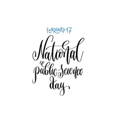 February - national public science day -hand vector