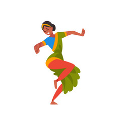 female indian dancer in traditional clothes young vector image