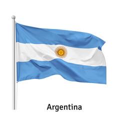 Flag argentine republic vector