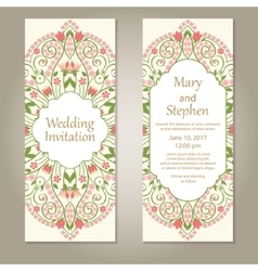 Floral card templates vector image
