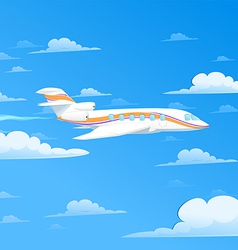 flying plane vector image