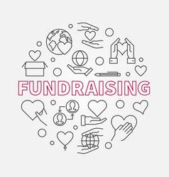 fundraising circular linear concept vector image