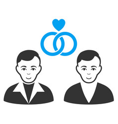 gays marriage flat icon vector image