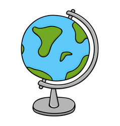 globe - model earth colored doodle style vector image