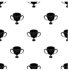 gold cup of the winnerfans single icon in black vector image