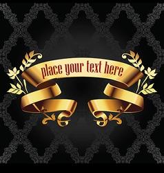 golden banner vector image