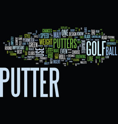 Golf putters what type is right for you text vector