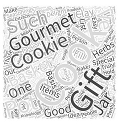 gourmet gift baskets Word Cloud Concept vector image