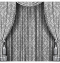 Gray curtain vector image