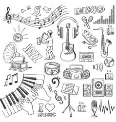 Hand drawn music vector